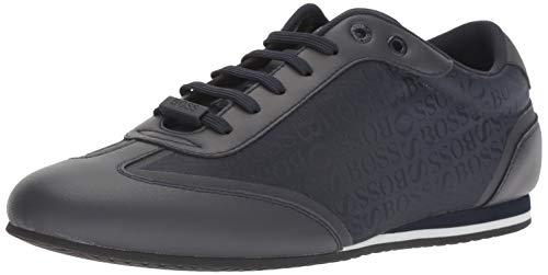 - Hugo Boss BOSS Green Men's Lighter Low Boss Logo Nylon Sneakers, Dark Blue, 44 Medium EU (11 US)