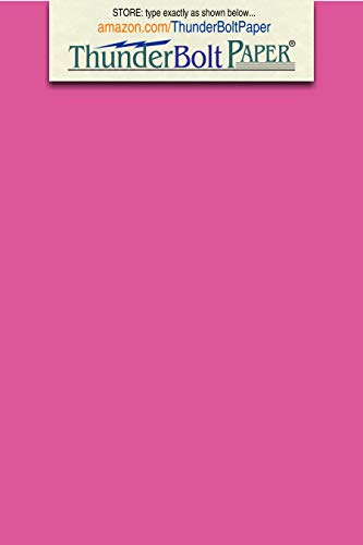 200 Bright Hot Pink 65lb Cover|Card Paper - 3 X 5 Inches Index|Recipe Card, Photo, Frame Size - 65 lb/Pound Light Weight Cardstock - Quality Printable Smooth Surface for Bright Colorful Results