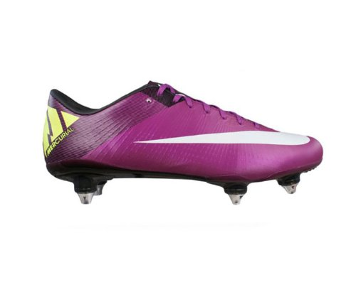 check out b9cc3 66c68 Nike Mercurial Vapor Superfly III SG Mens Football Boots   Cleats - Red  Plum - SIZE UK 7  Amazon.co.uk  Shoes   Bags