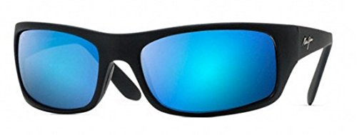 Maui Jim - Peahi - Matte Black Frame - Blue Hawaii Polarized - Maui 2 Jim Polarizedplus Sunglasses