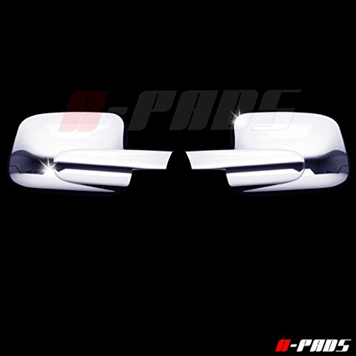 A-PADS 2 Chrome Mirror Covers for Chevy HHR 2006-2011 - FULL Chrome Mirrors