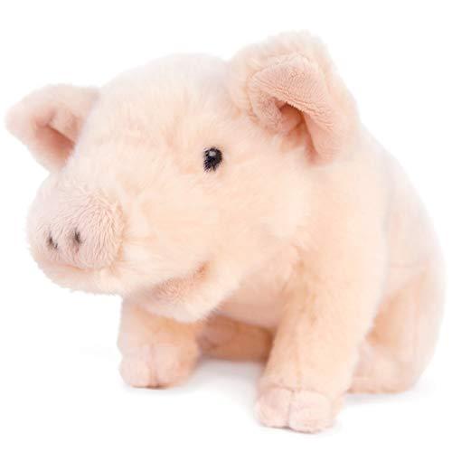 VIAHART Perla The Pig | 11 Inch Stuffed Animal Plush Piglet | by Tiger Tale Toys (Renewed)