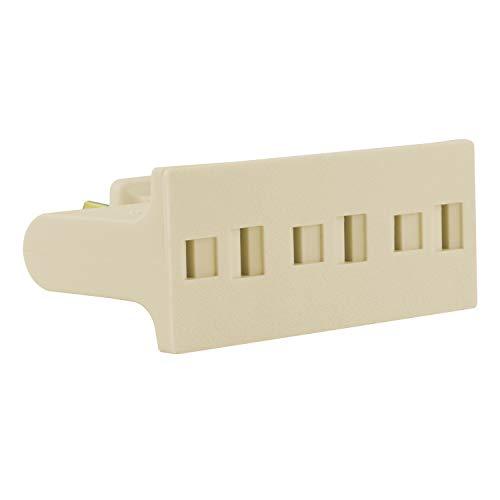 GE 54182 3 Wall Hugger Plug Swivel Outlet Extender, Polarized Power Tap, UL Listed, Light Almond