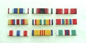 US Merchant Marine Medal Service Ribbons, Set of 9 by HighQ Store