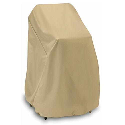 Two Dogs Designs Cover (Smart Living Home and Garden 2D-PF40365 High Stack Chair Cover with Level 4 UV Protection, 48-Inch, Khaki)