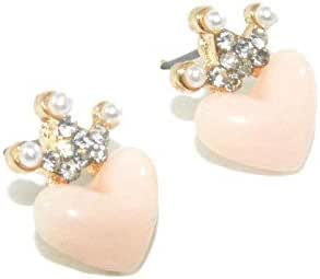 Crystal Ears with Pink Crown