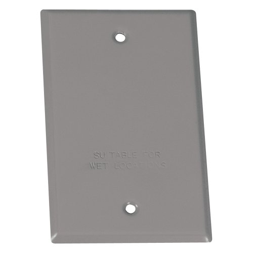 Sigma Electric, Gray 14240 1-Gang Rectangular Stamped Cover