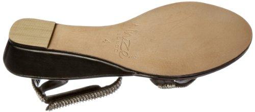 Unze Evening Sandals L18402W - Sandalias para mujer Negro