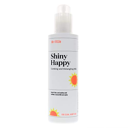 do+ Little Shiny Happy Kids Detangler and Leave in Conditioner Spray, 6.7 fl oz. Plant Derived to Nourish and Protect Child's Hair Naturally.