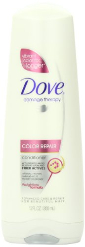 Dove Hair Therapy Conditioner, Color Repair, 12 Ounce (Pack of 6)