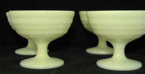 1950's Vintage Yellow Moderntone Platonite Sherbet Cup Set of 4