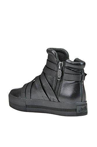 Ash Women's MCGLCAS03013E Black Leather Hi Top Sneakers mPneihQ