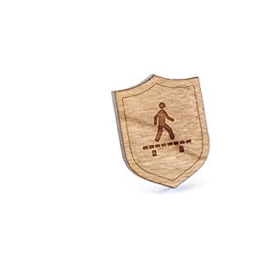 Boardwalk Lapel Pin, Wooden Pin And Tie Tack   Rustic And Minimalistic Groomsmen Gifts And Wedding Accessories save more