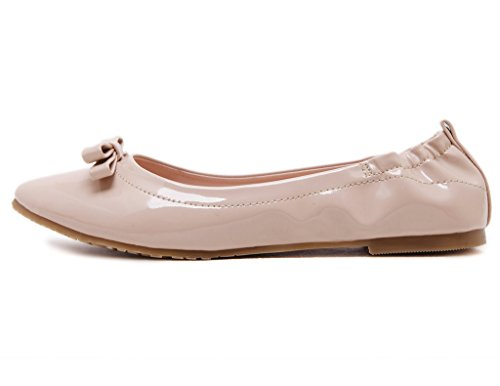 Fortuning's JDS Soft-soled Pointed Cone Casual Super Fashion / Wild peas shoes Off white YLxvOq