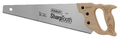 Stanley 15-087 20-Inch, 8-Point Contractor Grade Short Cut Handsaw