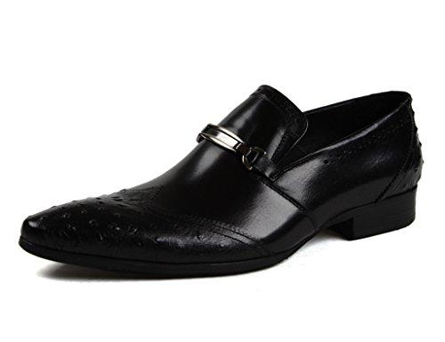 Cuero Brown para Negocios Negro Zapatos de Hombre EU39 para Formal Boda Ropa UK6 Zapatos de Puntiagudos Piel de Red Clásicos Zapatos Color Hombres Tamaño gxwv8Hnq0g