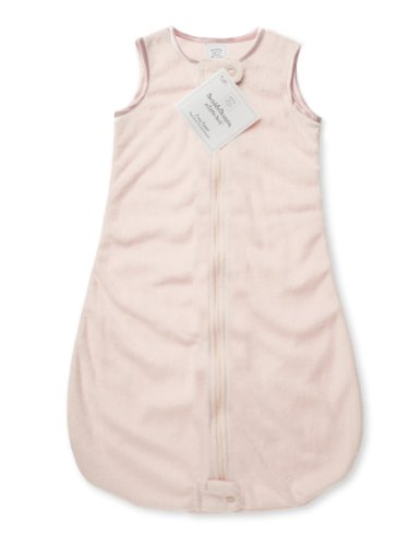 SwaddleDesigns Sleeping Zipper Velvet Pastel product image