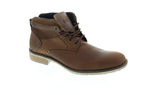 GBX Pinewood Mens Tan Leather Work Lace Up Boots Shoes 9.5