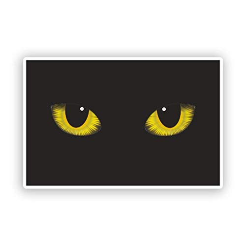 Cats Eyes Vinyl Stickers Scary Halloween Decoration Vinyl Sticker Decal Laptop Car Bumper Sticker Travel Luggage Car iPad Sign Fun 5
