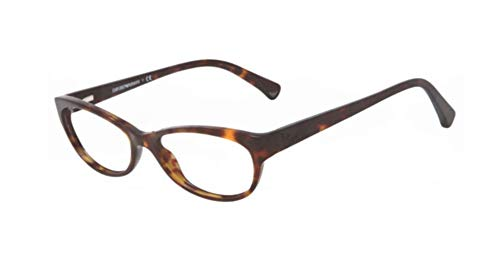 Emporio Armani Eyeglasses EA3008 - 5026 Dark Havana w/ Demo Lens 53mm
