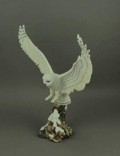 Veronese Snow Owl Taking Flight Statue Sculpture Figurine