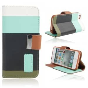 Side-open Leather Protective TPU Case with Strap for iPhone 5 Multi-color(3)