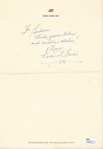 Vintage Signed Hand (Vincent Price actor REAL hand SIGNED Vintage Letter ALS JSA COA Horror)