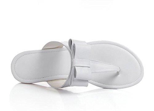 donna Pantofole all'aperto Bianca Flops Sandali Sandali Outdoor Moda ZXMXY Scarpe piatto Estate Tacco Scarpe da Papillon Flip ZxAnw4zq