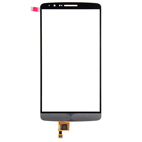 LUVSS New Touch Screen Digitizer [LCD not Included] Replacement for LG G3 D850 D855 VS985 D830 D851 Touch Digitizer Front Outer Glass Lens with Adhesive Pre-installed Repair Part (Grey)