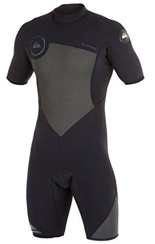 (Quiksilver Mens 2/2mm Syncro BZ Springsuit Wetsuit, Black/Graphite, Large)
