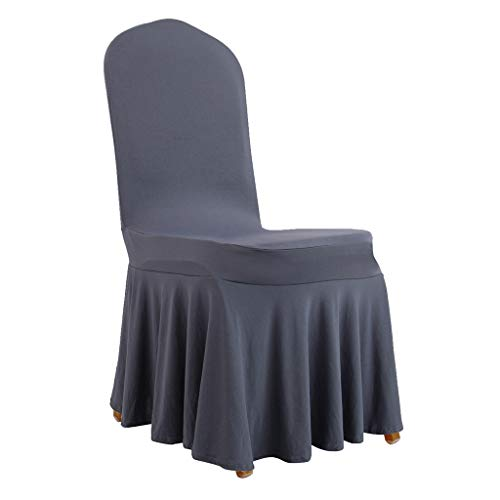 Guaber All-Inclusive Pleated Skirt Chair Cover, Universal Elastic Stretch Jacquard Anti-Stain Washable Slipcovers for Beauty Salon Hotel Wedding Banquet(1pcs)
