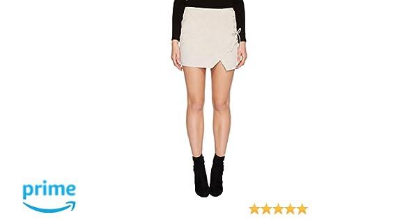 7282185363 [BLANKNYC] Blank NYC Womens Real Suede Mini Skirt With Lacing Detail In  Blondie