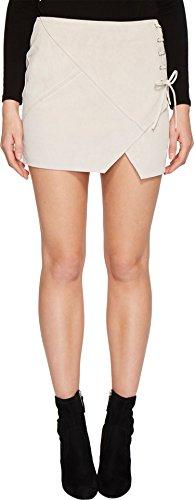 Blank NYC Women's Real Suede Mini Skirt With Lacing Detail In Blondie Blondie 29 ()