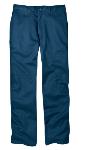 Dickies Occupational Workwear WP314DN 48x32 Cotton Relaxed Fit Men's Flat Front Casual Pant with Straight Leg, 48