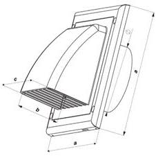 30BR Braun Luftf/ührung Wandabzug Gravity Lasche 150/mm//15,2/cm Auslass Kaminabdeckung L/üftungsgitter mit nicht Return Ventil//BACKDRAFT Shutter ko150