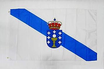 GALICIA INDEPENDENTIST FLAG 3/' x 5/' for a pole GALICIA ESTRELEIRA FLAGS 90 x 1