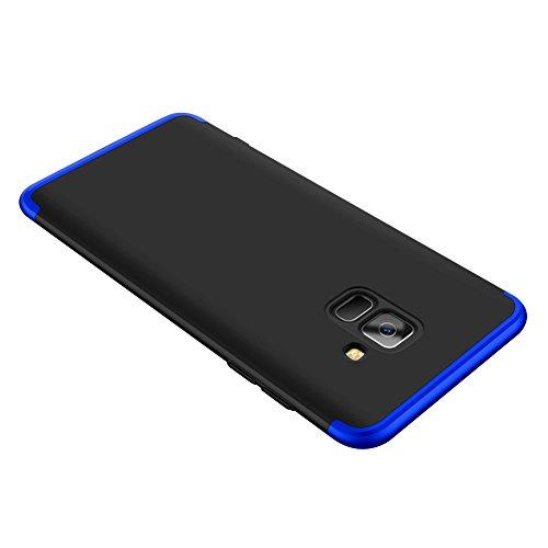 Samsung Galaxy A8 Plus 2018 Caso, Vandot de 360 Grados Alrededor de Todo el Cuerpo Completo de Protección Ultra Thin Slim Fit Cubierta de la Caja de Mate PC Absorción de impactos Shockproof para Samsu QBHD PC-8