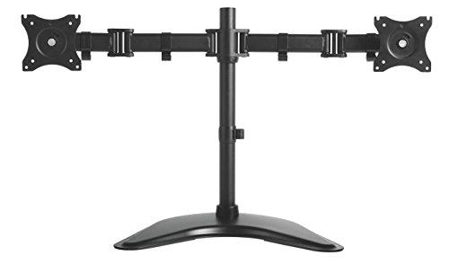 Kantek Desktop Height Adjustable Articulating Monitor Arm for Dual Monitors, Black (MA225)