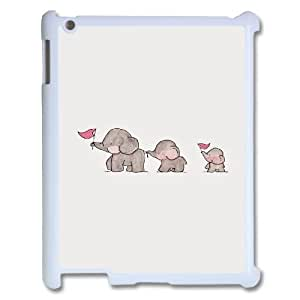 elephant Design Discount Personalized Hard Case Cover for iPad 2,3,4, elephant iPad 2,3,4 Cover