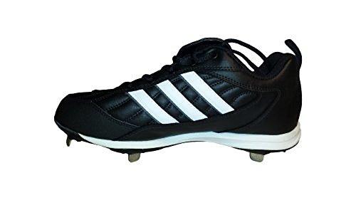 Adidas Menns Spinner 2 Baseball Cleats Svart / Hvit