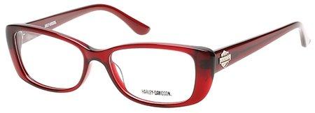 Harley Davidson Rx Eyeglasses - 0521 O92 - Red (53/16/135) (53 16 135)