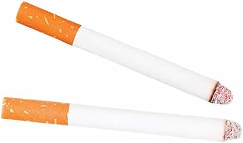 2PCS Funny Fake Cigarettes Fags Smoke Effect Lit End Joke Trick Toy