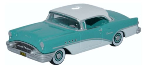 Buick Century, turqois/white, 1955, Model Car, Ready-made, Oxford 1:87 - Buick Century Diecast Model