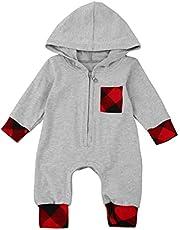 الوليد الرضع طفل رضيع فتاة منقوشة مقنع رومبير بذلة ملابس ملابس (Color : GY, Kid Size : 70)