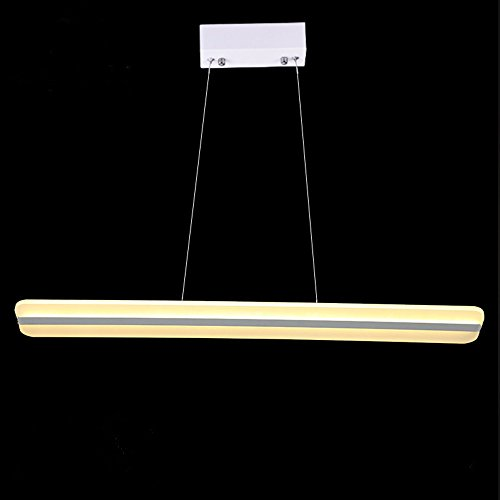 Royal Pearl Modern Dimmable Linear Pendant Light Chandelier Adjustable Hanging Lighting Fixture for Kitchen Island H32 x L45.3 x W5 Parlor 4 Light Chandelier