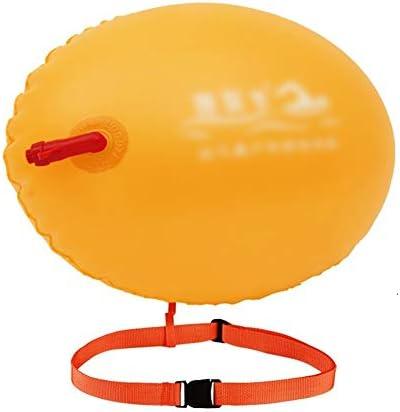 オープンウォータースイムブイ、大人のための調節可能なベルト浮上デバイス、ダブルエアバッグ肥厚スポーツ安全フロート、非保存可能な、オレンジ、レッド、イエロー (Color : Yellow)