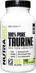 NutraBio 100% Pure Taurine (1000 mg) - 150 Vegetable Capsules