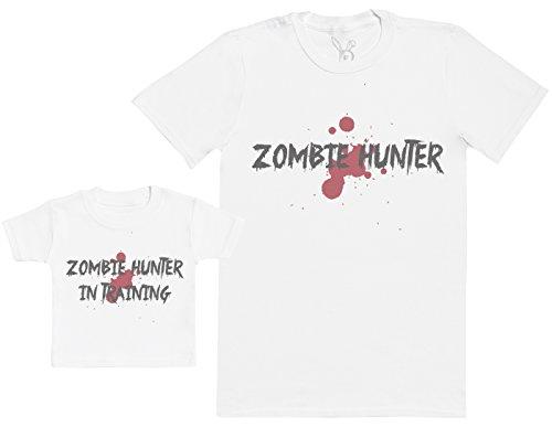 Zarlivia Clothing Zombie Hunter In Training - Regalo para Padres y bebés en un Camiseta para bebés y una Camiseta de Hombre...