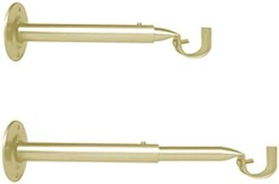 Support Mural Extensible et r/églable pour Barre de Rideaux Couleur Laiton Antik, Meilleures ventes 1 Lot de 2 Supports de tringles Longueur 18-25 cm /Ø 19 mm