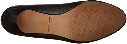Clarks Mujeres Heavenly Shine Dress Pump Black Leather